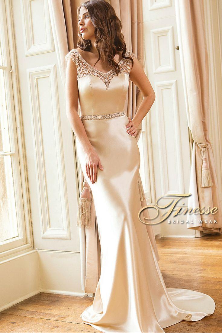 Elegant Slinky Wedding Dress exclusively from Finesse Bridal Wear in Listowel, Co Kerry #SlinkyWeddingDress
