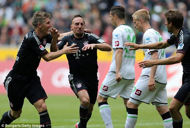 Franck Ribery almost single-handedly guided Bayern in their 4-3 comeback against Gladbach