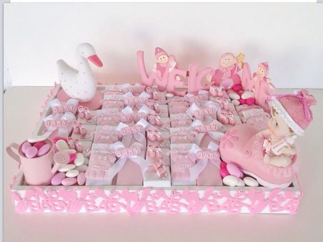 Tray Decoration For Baby Girl Awesome Baby Girl Chocolate Arrangement  Chocolates  Pinterest  Baby Inspiration