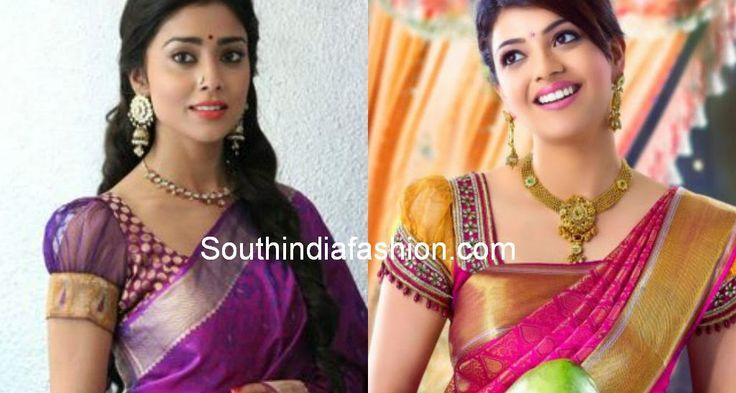 últimos diseños blusa sari pattu 2014