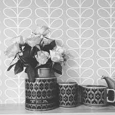Image result for orla kiely wallpaper grey