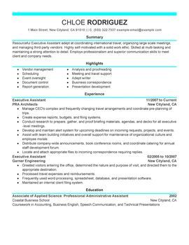 executive assistant resume sample perfect