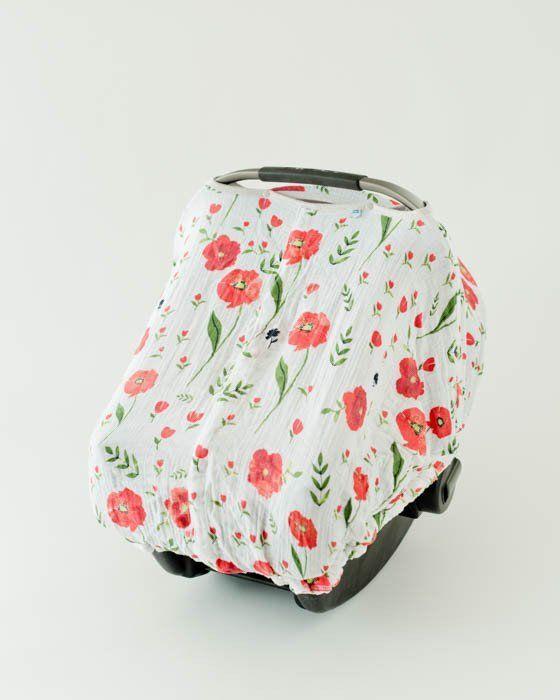 Cotton Muslin Car Seat Canopy Summer Poppy Детские