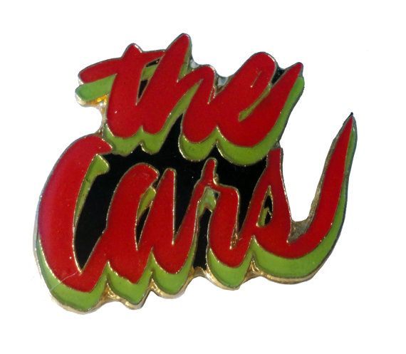 vintage THE CARS metal enamel pin button Ric Ocasek candy o