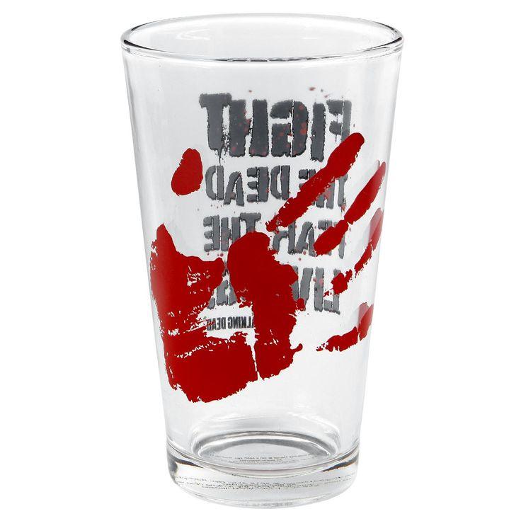 """Bicchiere """"Fight"""" della serie televisiva TheWalkingDead con stampa. Capienza: 0,5 l. Prodotto NON compatibile con microonde e lavastoviglie."""