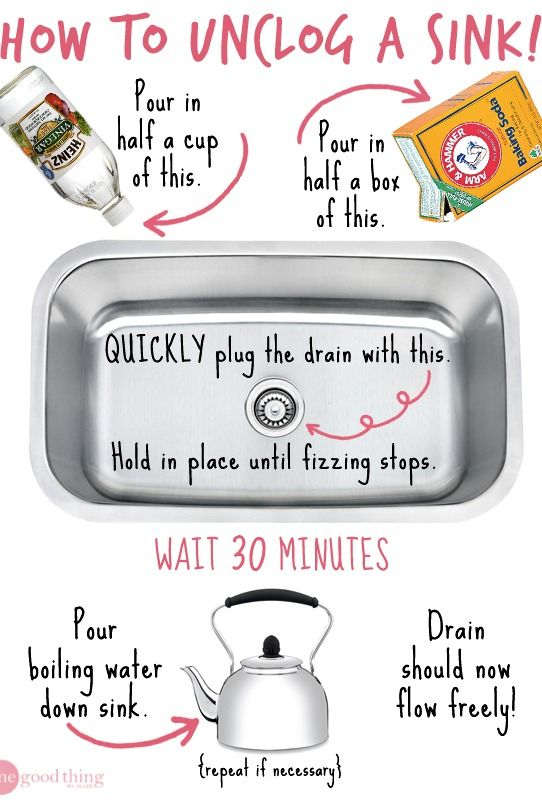 Simple Remedies For Clogged Drains · Jillee | Things To Make Life Easier...  | Pinterest | Cleaning, Cleaning Hacks And Unclog Sink