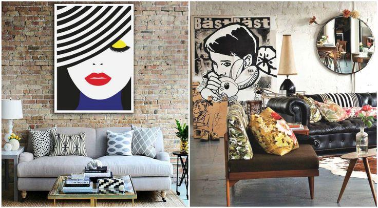 Кирпичная стена в интерьерах в стиле поп-арт #interior #мебель #дизайн #интерьер #дом #уют #декор