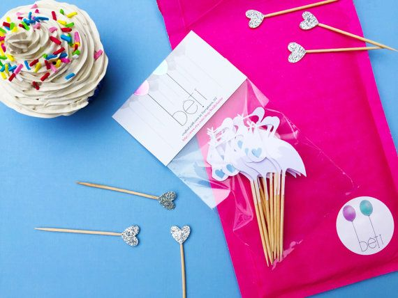 These baby shower stork cupcake toppers are the perfect way to announce to the world that its a boy! Use as cupcake picks or group together and use