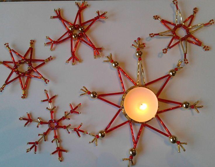 Vánoční ozdoby sada se svícnem