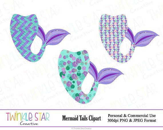 Instant Download Mermaid Tail Clipart Mermaid Digital Clip Etsy Clip Art Digital Clip Art Clip Art Borders
