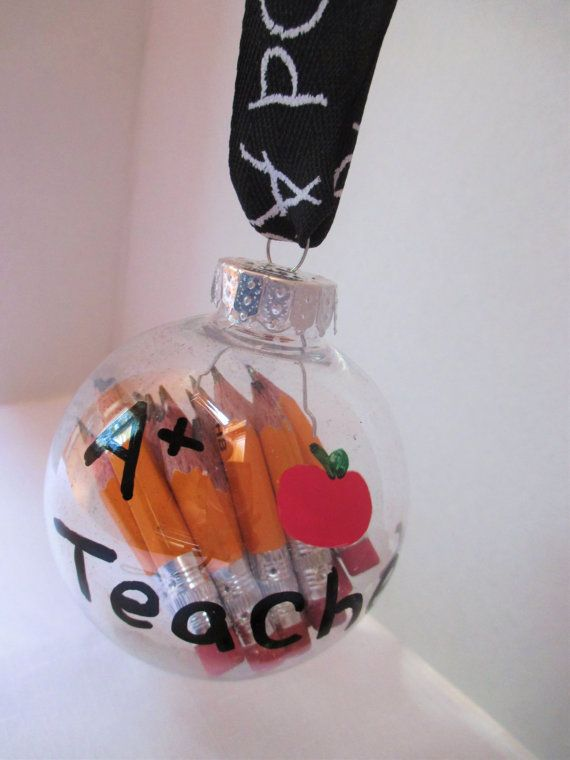 Pencil teacher ornament Teacher gifts by christinasbabygifts