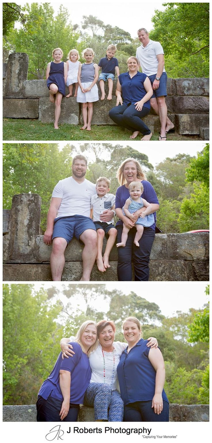 Extended Family Portrait Photography Sydney in Family Home West Pymble 4 Generations together