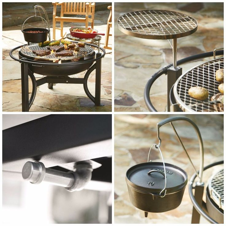 """Cowboy Grill Patio BBQ Fire Pit Cooking Outdoor Charcoal Round 35"""" Camping #MembersMark"""