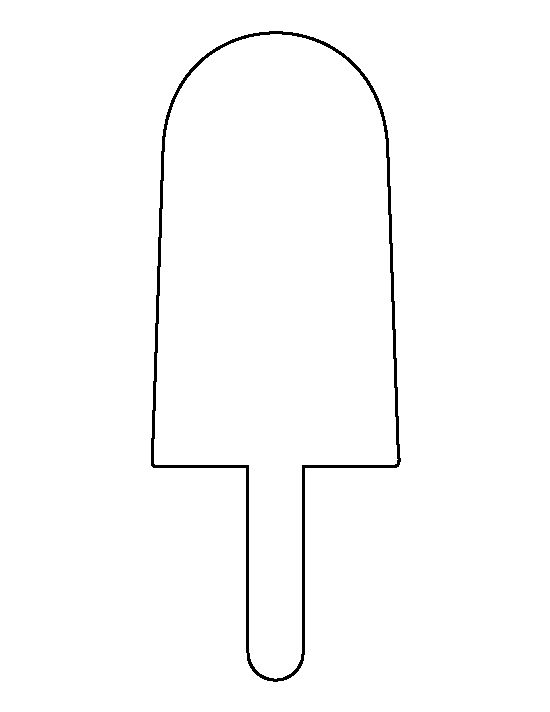 Popsicle pattern. Use the printable outline for crafts, creating stencils, scrapbooking, and more. Free PDF template to download and print at http://patternuniverse.com/download/popsicle-pattern/