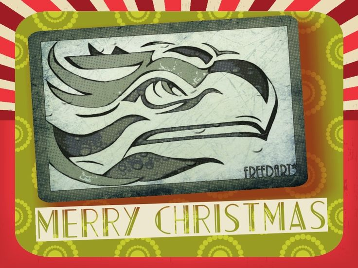 Custom Greeting Cards, Seattle Seahawks Logo Design