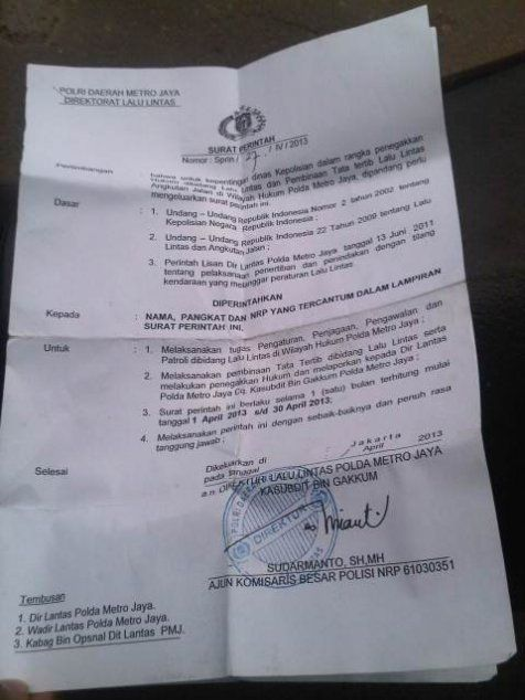 Ini yang harus ada di surat perintah resmi polisi saat razia | merdeka.com