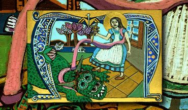 Saint Martha and the Dragon Legend Icon Art by Amy Adams  #handpainted #icons #woodicons #saints #saintmartha #artforsale