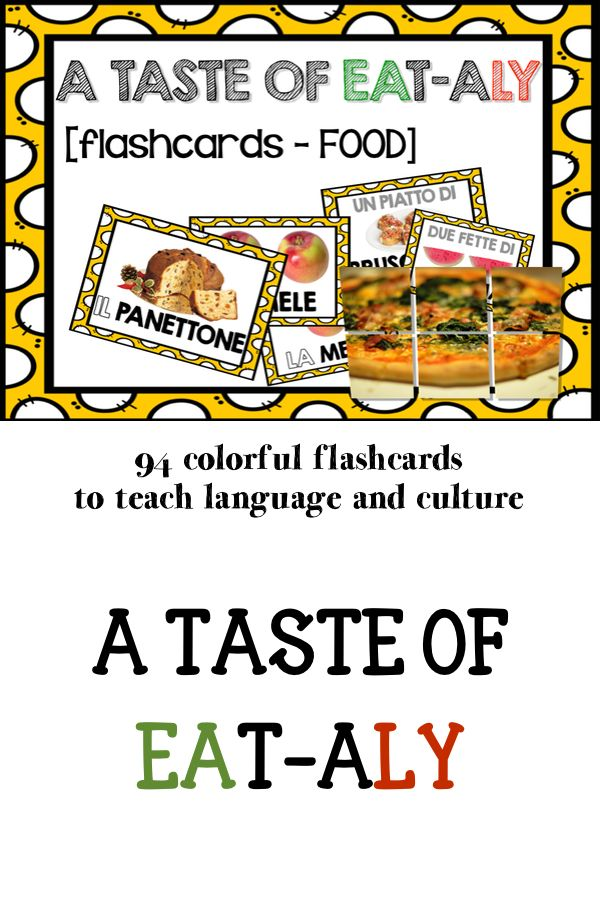 #flashards to teach #Italian #language (#food #vocabulary)