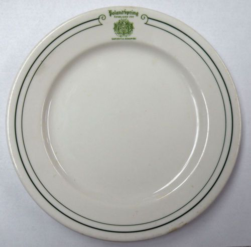 "Poland Springs Maine Resort Inn Hotel 7 1 4"" Saucer Small Plate Syracuse China 