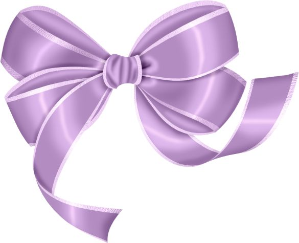 Purple Large Bow Clipart
