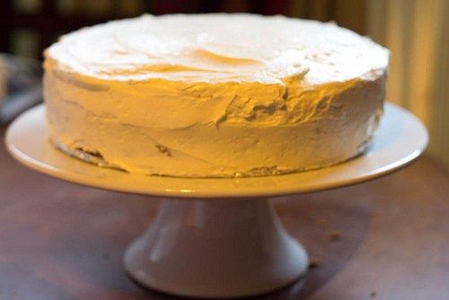 No wedding required to make this white almond cake with almond meringue buttercream! | dessert recipe from Chattavore.com