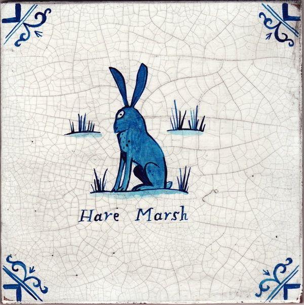 Hare Marsh - umbra tile by Paul Bommer. Hare Marsh market is off Cheshire Street, Spitalfields, London.