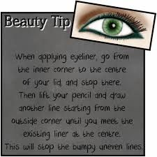 Just a little #tip for applying your eye #liner ;)