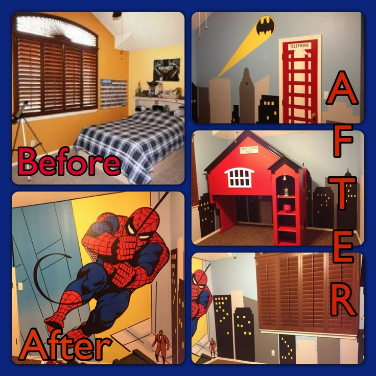 17 best images about ideas for new super hero room on for Comic book bedroom ideas