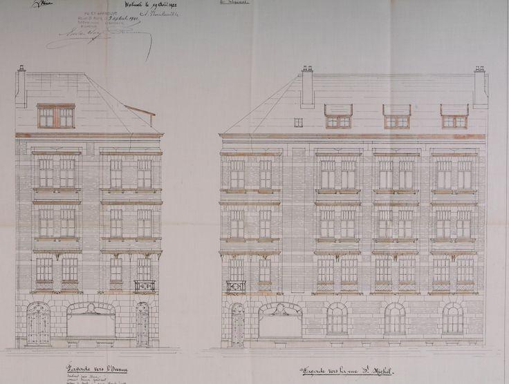 Woluwe-Saint-Pierre - Avenue Roger Vandendriessche 13 - Rue du Collège Saint-Michel 2 - STEUVE V(ictor).