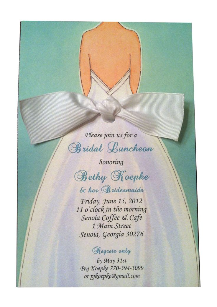 149 best bridal shower invitations images on Pinterest - lunch invitation templates