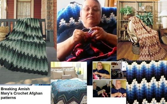 Mary the mom from Breaking Amish and Return to Amish crochet patterns