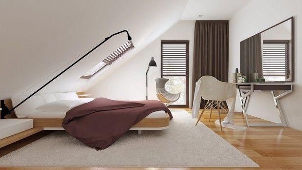Sypialnia na poddaszu, ma wszystko czego potrzeba. Sprawdź więcej.