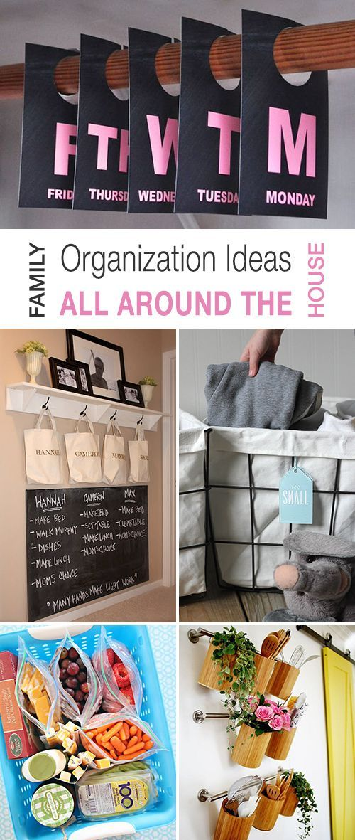Family Organization Ideas All Around The House! • Explore this blog post and discover clever ways to keep your family organized! • Lots of projects and tutorials!