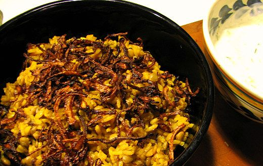 Arroz con lentejas, comino y cebolla frita ('mejadara') | El Comidista EL PAÍS