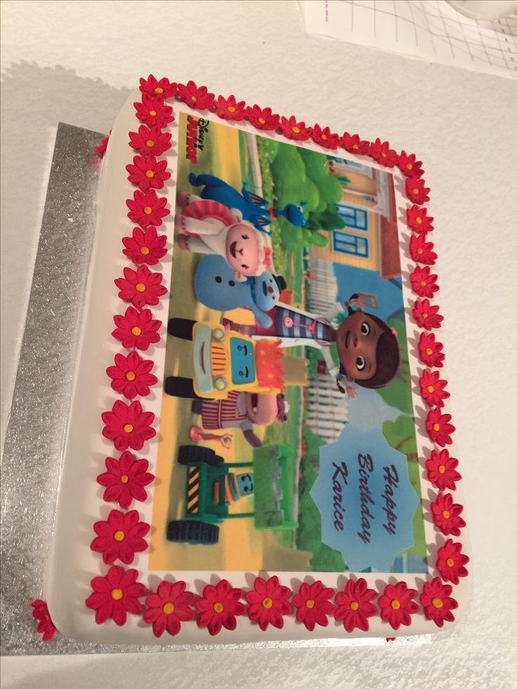 Dr. McStuffins Edible Image Cake