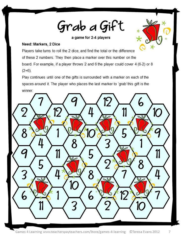 34 best Christmas math games images on Pinterest | Christmas math ...