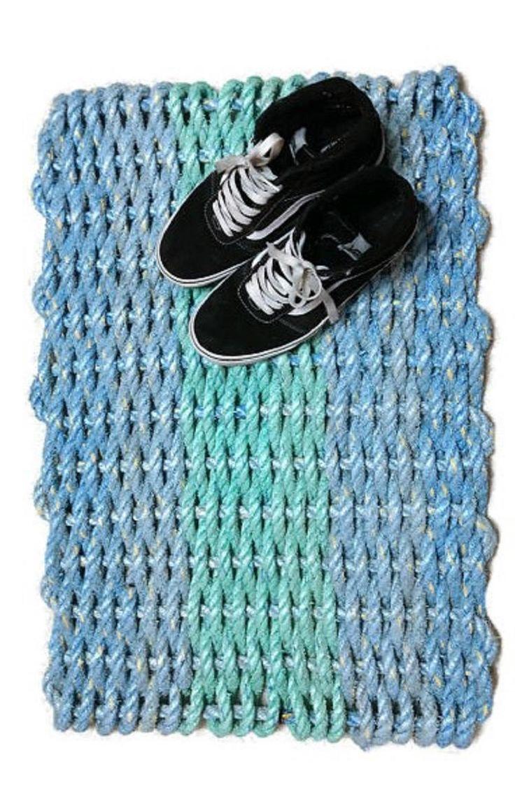 Entry Rug Doormat Lobster Rope Mat Handwoven Unique Gift Rope Rug