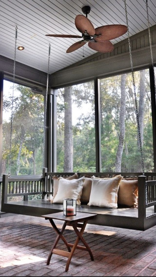 Enclosed porch swing. Styleyes