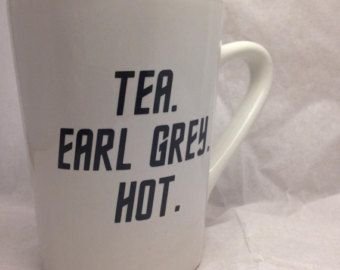 Earl Grey Tea Mug with Quotation from Jean-Luc Picard
