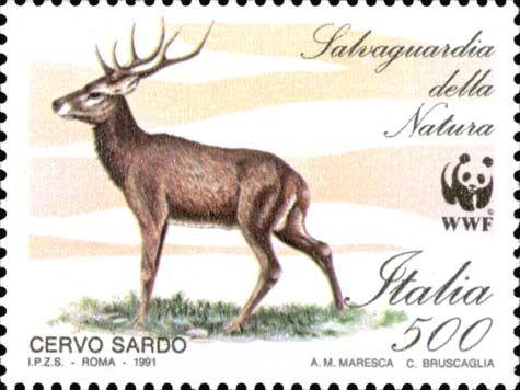 "1991 - ""Salvaguardia della natura"": Cervo sardo"