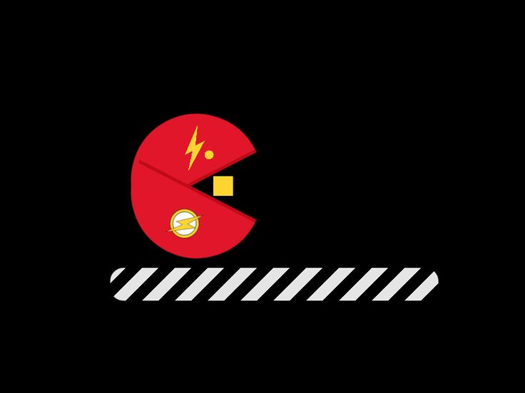 The Flash And Pacman by Reza Padillah