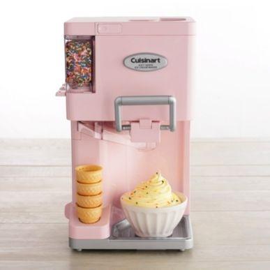 Sofe Service Ice Cream Maker by Cuisinart: Kitchens, Frozen Yogurt, Ice Cream Maker, Gadgets, Cream Machine, Pink Ice Cream, Icecream Maker, Products, Soft Serving