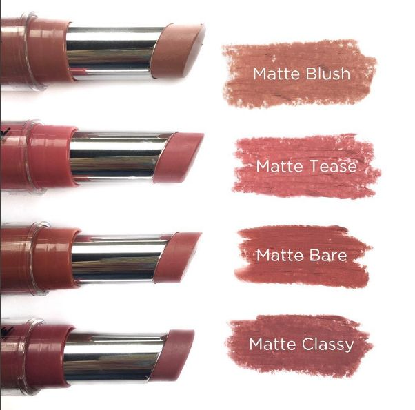 Jordana Cosmetic Modern Matte Lipsticks add Matte Frappuccino and Matte Pretty and you've got my collection of these.