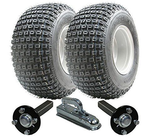 Kit Remorque Quad Roues Wanda + moyeu/fusée d'essieu en acier + attelage Alko 200kg 18x 9.50–8: * Kit * Deux–18x 9,5-84P322Wanda…