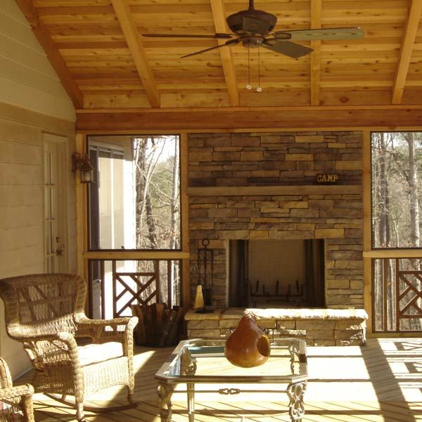130 best winter outdoor spaces winter decorating ideas for Wood burning stove for screened porch