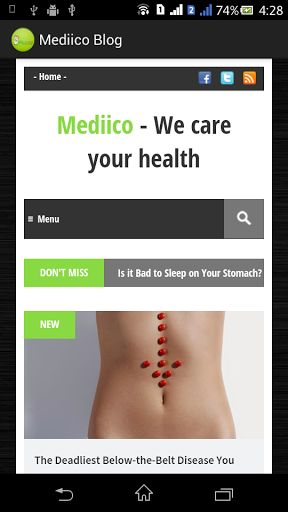 Mediico Blog for Android helps you with your decision-making and health improvement efforts by providing mobile access 24/7 to mobile-optimized health information. It keeps you updated with trending health articles and news.ABOUT Mediico Blog Mediico Healthcare Inc. is the leading provider of eHealth services, serving consumers, physicians, healthcare professionals, employers, and health plans through our public and private online portals, mobile platforms and health-focused publicatio...