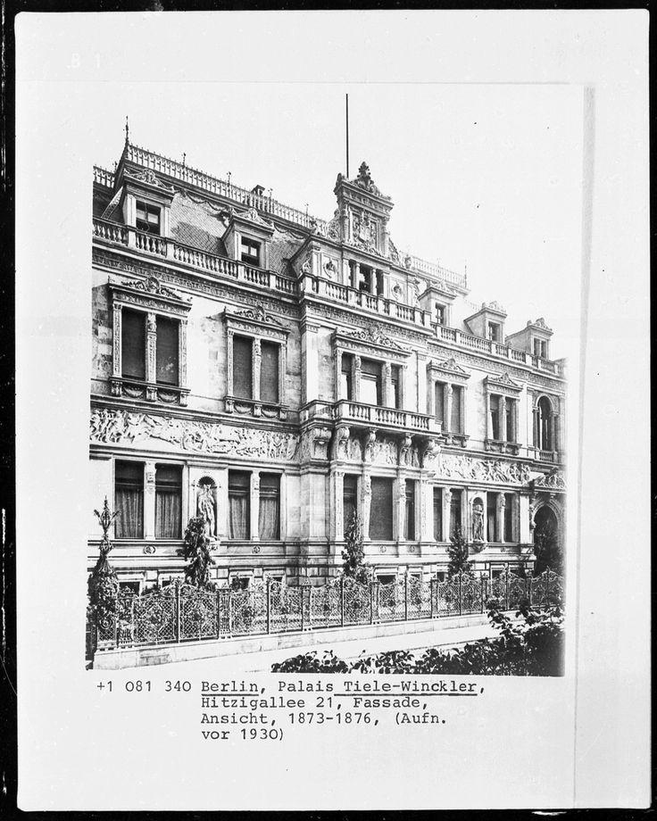 Palais Tiele-Winckler | Berlin, Tiergarten, Hitzigallee 21 | Bildindex der Kunst & Architektur