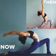 2 years ago that was as far as I could go and that was already taking everything out of me. 2 years later I can't quite believe the difference! There are a few things I swear by to improve back bending so here are my top tips: 1. WALL STRETCH 5mins, face a wall one arms length away, place hands on wall, hand shoulder width apart, start to walk feet back and melt the head and chest downwards. You should feel it in the back of your shoulders. 2. BLOCK RESTING 5mins, place a hard yoga block ...