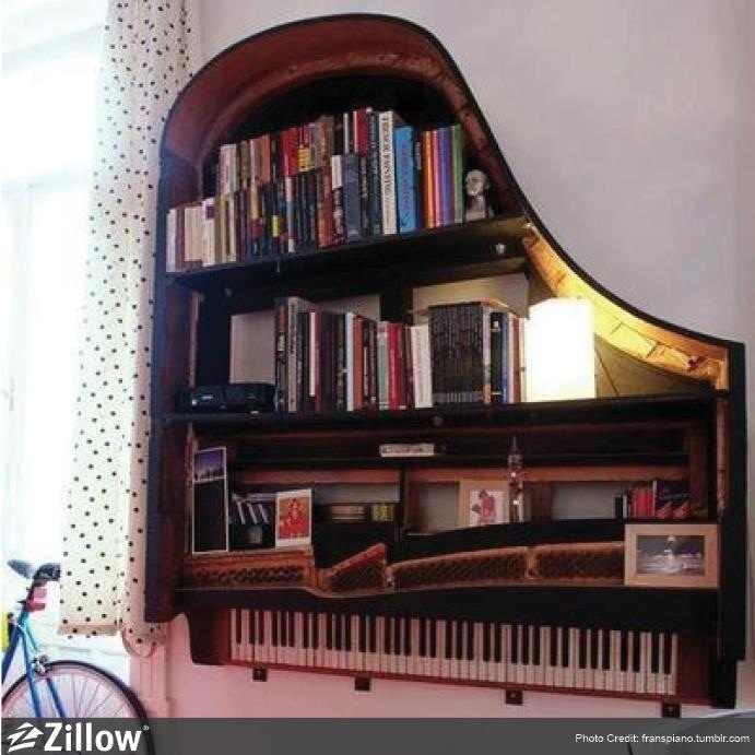 Piano Book Shelf