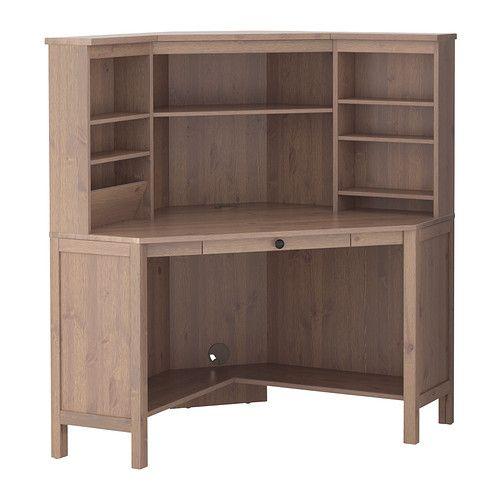 Hemnes corner workstation gray brown ikea max width - Scrivania hemnes ikea ...